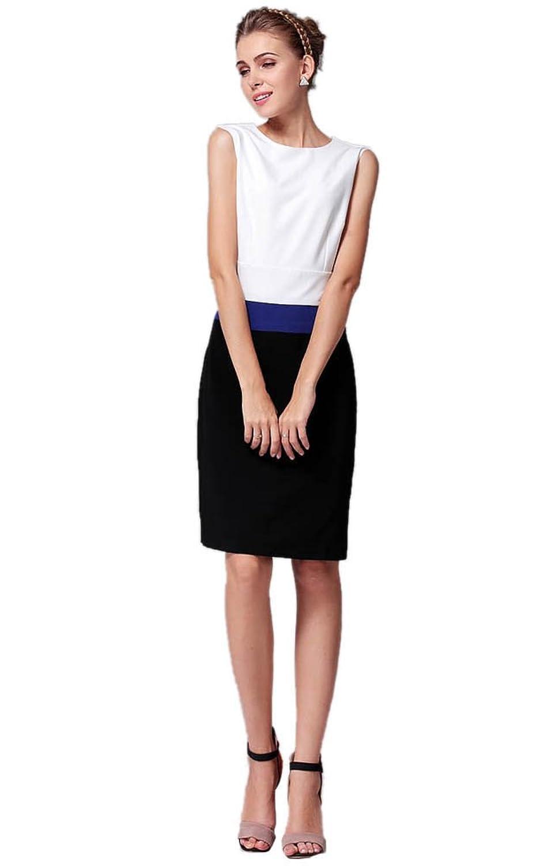 Purpura Erizo Womens Stylish Splicing Bodycon Graceful Peplum Dress
