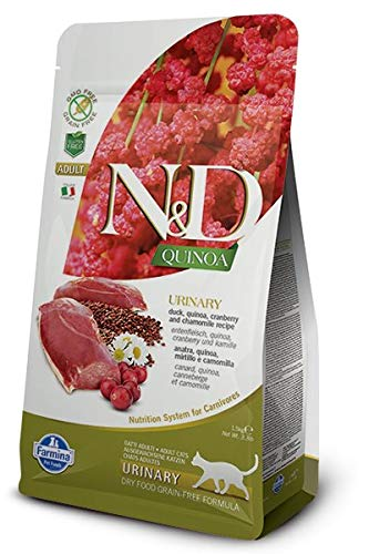 Farmina N&D Functional Quinoa Urinary Duck Cranberry and Chamomille Dry Cat Food 3.3 Pounds