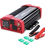 1000W Car Power Inverter 12V DC to 110V AC Converter with Dual AC Outlets and 3.1A Quick Charging USB Port Car Adapter Power Inverter for RV Camping Emergency