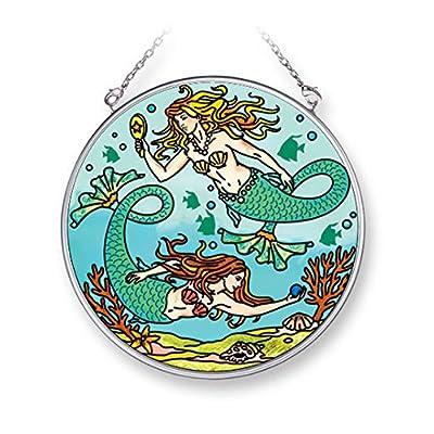 AMIA 42271 Mermaids Suncatcher Round 4 1/2 Inch : Garden & Outdoor