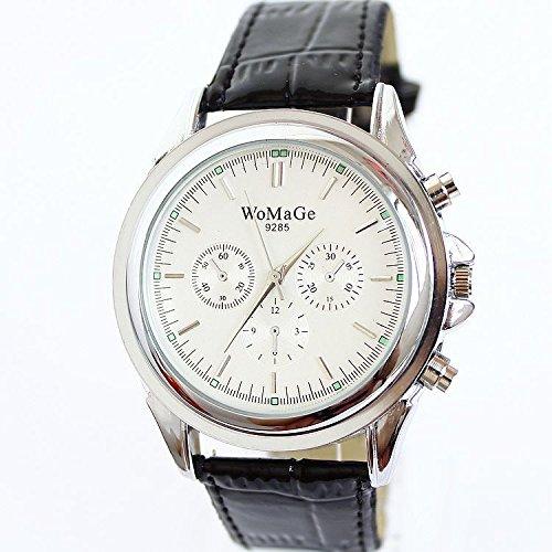 CRF Tres relojes reloj de la correa de cuero de la PU tres moda clave falsos-2: Amazon.es: Relojes