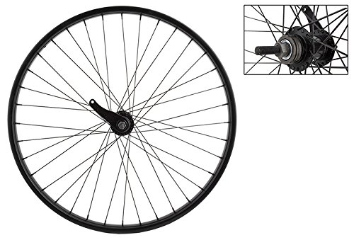 WheelMaster Rear Bicycle Wheel, 26x1.75 STL BK 36 KT CB 110mm 14gBK