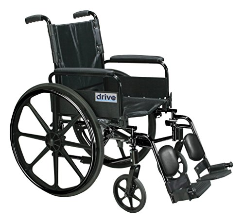 Drive Medical C420ADFASV-ELR Cirrus Iv Lightweight Dual Axle Wheelchair With Adjustable Arms, Silver Vein