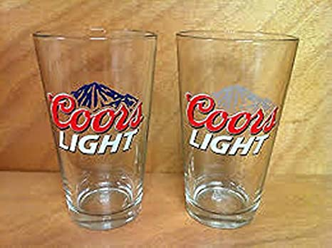 4 or 6 Coors Light Lager Half Pint Embossed Cold Activated Glasses Sets of 2