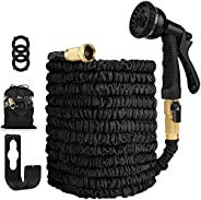 100FT Garden Hose Expandable Hose - Heavy Duty Flexible Leakproof Hose - 8-Pattern High-Pressure Water Spray N