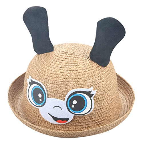 SMALLE Clearance Summer Baby Hat Cap Children Breathable Rabbit Hat Straw Hat Kids Hat Boy Girls Hats (50-54cm(Head Circumference), B6)