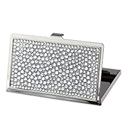 Clear Bling Crystal Business Card Case Cute