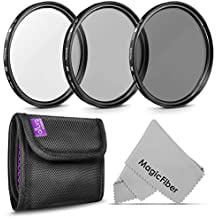 49MM Altura Photo Professional Photography Filter Kit (UV, CPL Polarizer, Neutral Density ND4) for Camera Lens with 49MM Filter Thread + Filter Pouch