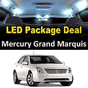 led interior package deal for 2008 mercury grand marquis 8 pieces white automotive. Black Bedroom Furniture Sets. Home Design Ideas