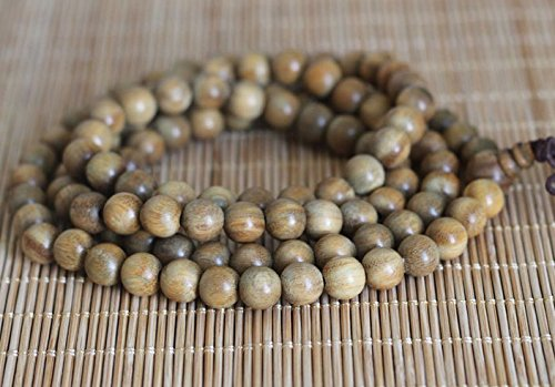 The Art of Cure Healing Jewelry & Mala meditation beads (108 beads on a strand) (sandalwood) ()