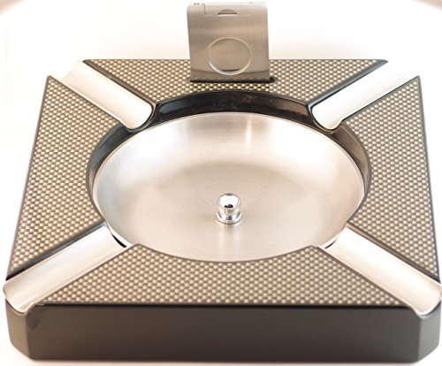 - Cugar Ash Tray with Built In Cigar Cutter