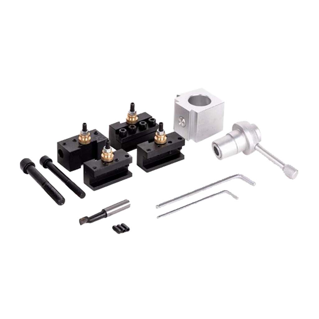 Homyl Quick Change Tool Post and Holder Kit Set Aluminum for Table Lathes