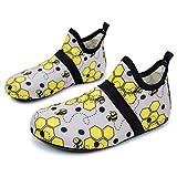L-RUN Boys Girls Walking Shoes Barefoot Skin Water Shoes Yellow 12.5-13=EU 30-31
