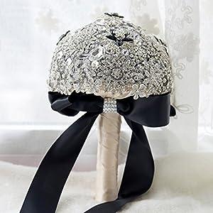 ASIBG Home Bridal Bridesmaid Wedding Bouquet Artificial Flowers 105