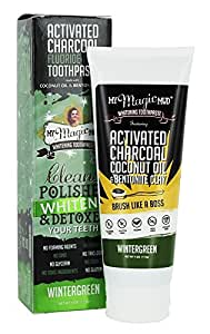 my magic mud activated charcoal toothpaste wintergreen 4 oz beauty. Black Bedroom Furniture Sets. Home Design Ideas