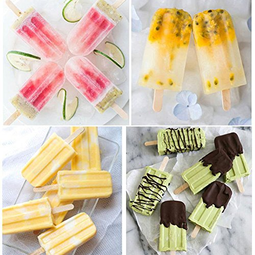EDTara Ice Cream Mold Silicone Ice Cream Lolly Pop Maker Mould Popsicle Frozen,Ice Tray with Cover Lid,10 Cells by EDTara (Image #8)