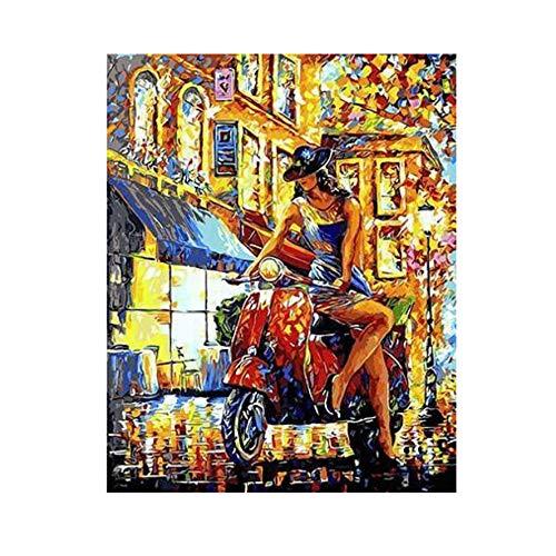 XIGZI Blick auf Herbst Eiffelturm Paris Malen nach Zahlen Leinwand für Wohnkultur 40X50 cm malen,Mit Holzrahmen,J B07MZ544RX | Vollständige Spezifikation