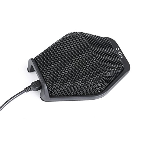 Movo MC1000 Conference USB Microphone for Computer Desktop with 180° / 20' Long Pick up Range for PC/Windows & Mac/iOS - Plug & Play Easy Installation