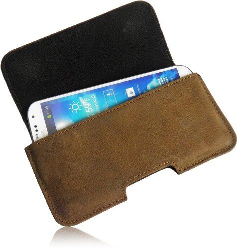 Matador Echt Leder Tasche Case Hülle Handytasche Gürteltasche Quertasche für Apple iPhone 3G S in Antik Tobacco Vintage Style mit verdecktem Magnetverschluß und Gürtelschlaufe
