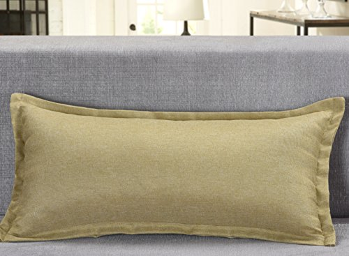 Aiking Home Solid Faux Linen Pillow Cover, size12