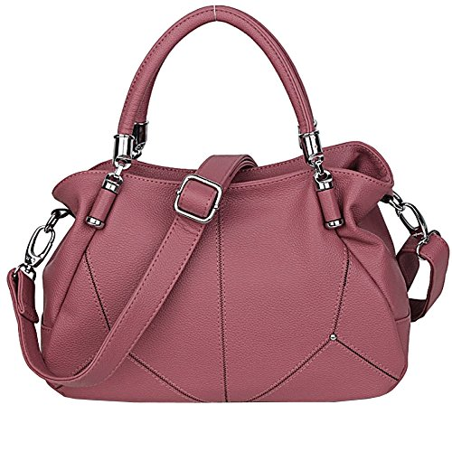 Messenger Shoulder Handbag Bag Ladies aged Bag Mother Handbag Bag Large Fashion Pink capacity Travel Middle Leather FLHT Ms Bag Soft wZqppx