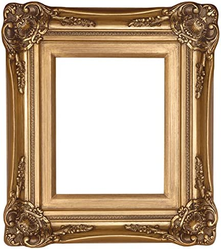 Raphael Rozen Hanging Wall Framed Colonial Baroque Styled Artisan Hand Carved Hanging Wall Mirror Elegant – Modern – Classic – Vintage 30×40, Antique Gold leafed