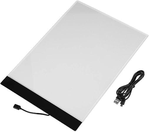 Caja de luz A4, tablero de dibujo de 4mm Slim Art Craft Copy para artistas que diseñan dibujos de animación(intocable, cable USB): Amazon.es: Hogar