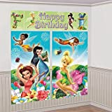 Amscan Disney Tinkerbell Birthday Party Scene Setter Background Decoration (5 Pack), Multi Color, 59'' x 32 1/2''. Others Supplies (60 Piece)