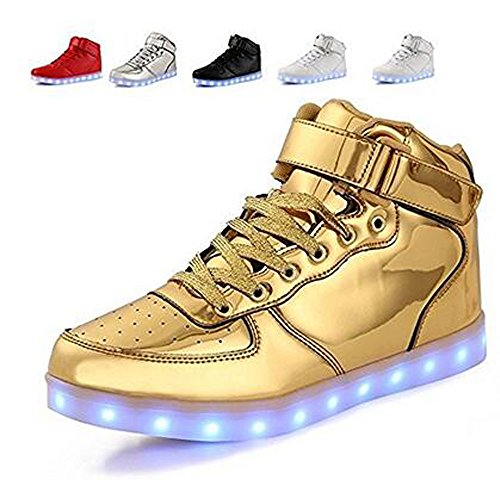 gongkunshop Christmas Kids Boy Girls Toddler/Little/Big Kids Men&Womens 11 Colors Led Light up Flashing Shoes Sneakers