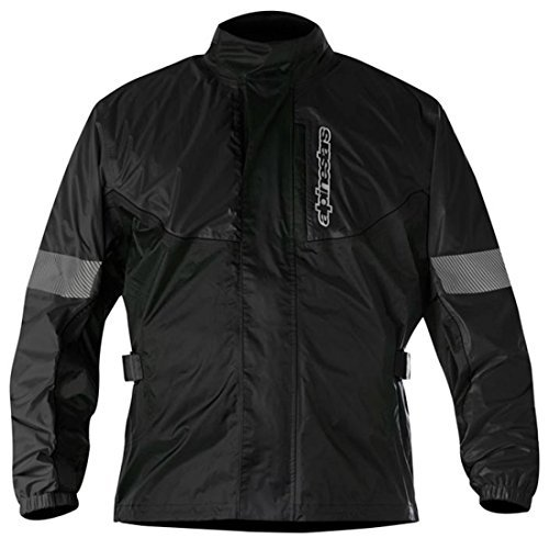Alpinestars Hurricane Rain Waterproof Riding Motorcycle Over Jacket - Black L