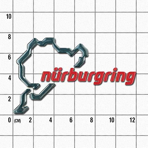ニュルブルクリンクサーキット(ニューロゴ)3Dステッカー