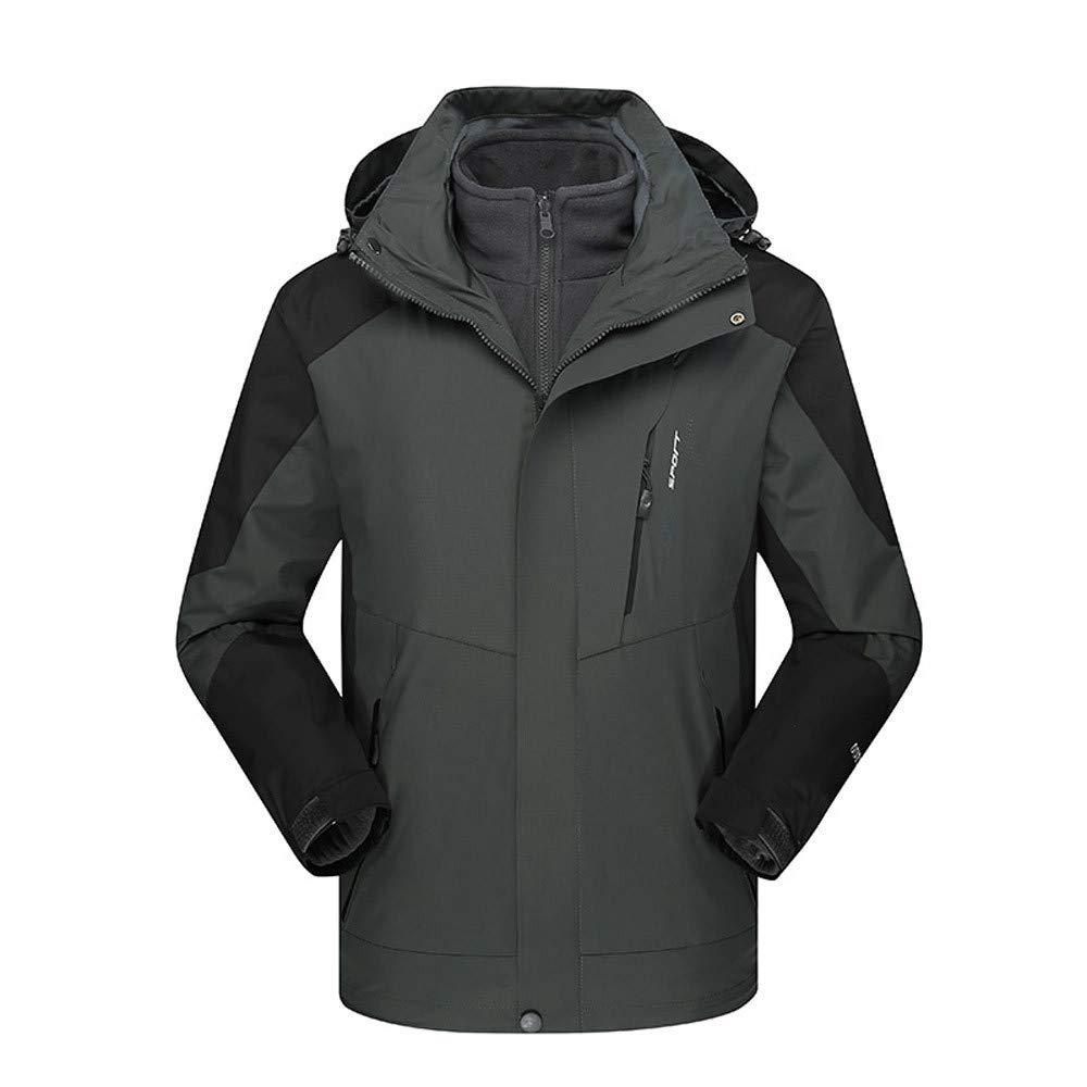 YCGG 3 In 1 Jacke Herren,Funktionsjacke Softshelljacken Winterjacken Herren Winter Outdoor Outfit Zweiteilige DREI in Einem Wasserdichten Atmungsaktiven Mantel