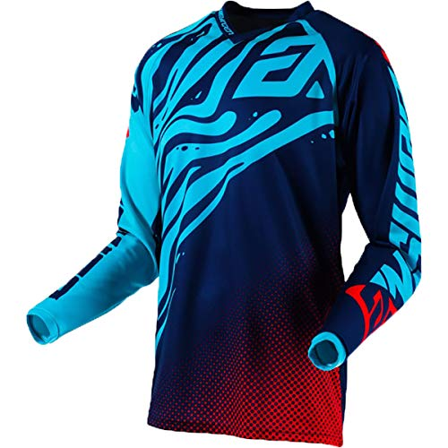 Answer Racing A19 Syncron Air Flow Youth Boys Off-Road Motorcycle Jersey - Astana/Indigo/Bright Red/X-Small