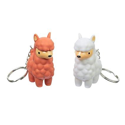 c3aeeb455ada9 Amazon.com: Funtime Gifts FU7360 PooPoo Llama Keyring, Multi: Toys ...