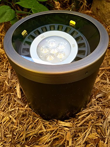 Pinnacle Lights PVC Composite Par 36 LED Well Light with brass ring and glass - Lenses Pinnacle