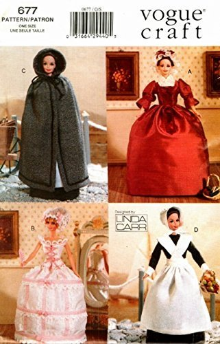 Vogue 7039 - Fashion Doll Patterns - Historical Outfits Linda Carr Vogue Pattern Services