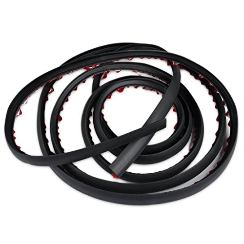 beler 4M Universal Car P Shape Rubber Seal Weather Strip Hollow Door Window Edge Moulding Trim Decorate Weatherstrip]()