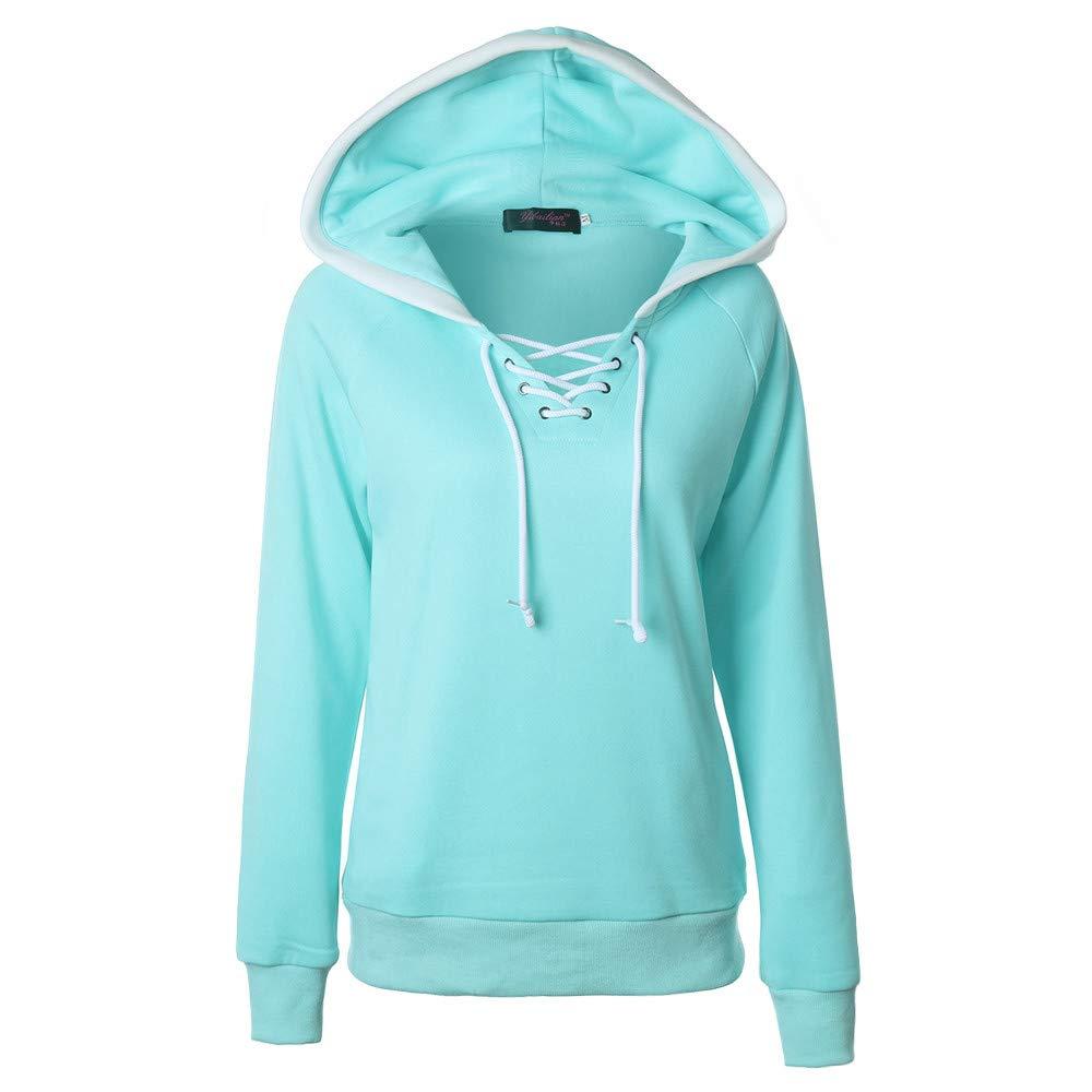 Plus Size Womens Plain Hooded Pullover Blouse 2019 Skirt Tunic Top Hoodie Sweatshirt-Long Sleeve