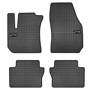 DBS 1765907 Alfombrillas de coche de goma - A medida - Alfombrillas para coche - 4 uds. - Goma de gran calidad - Inodora - Antideslizante - contorno ...
