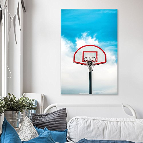 Sports Theme Basketball Stand Under Blue Sky