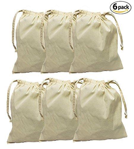 Earthwise algodón orgánico Muselina producir bolsas con cordón para las compras de comestibles y almacenar alimentos,...
