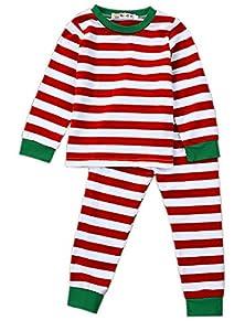Toddler Boys Girls Stripes Two Piece Sleepwear Nightwear Pajamas Set