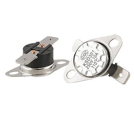 KSD301 N.C. 2pcs Temperature Controlled Switch Thermostat 80°C Celsius Degree