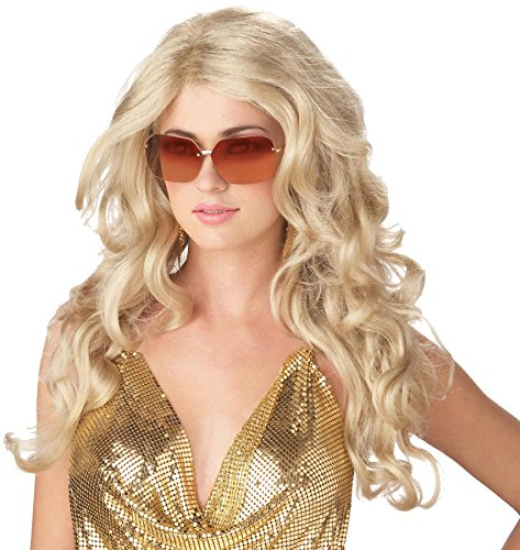 Blonde Super Model Wig (UHC Adults Sexy Super Model Long Blonde Wig Cosplay Halloween Accessory)