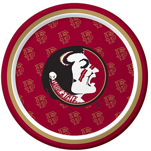 8-Count Round Dessert Paper Plates, Florida State Seminoles]()