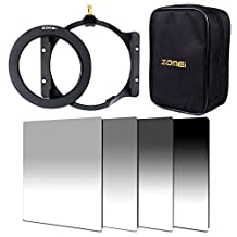 ZOMEI 100mm GND ND2+ND4+ND8+ND16 Filter+Adapter Ring+ Holder+16 Slot Case For Cokin Z Lee (95 mm)