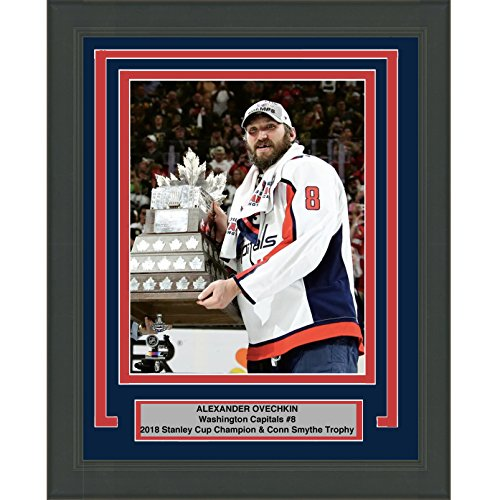 Alexander Ovechkin Hockey (Framed Alexander Alex Ovechkin Washington Capitals Team 2018 Stanley Cup Champions 8x10 Hockey Photo Professionally Matted #3)