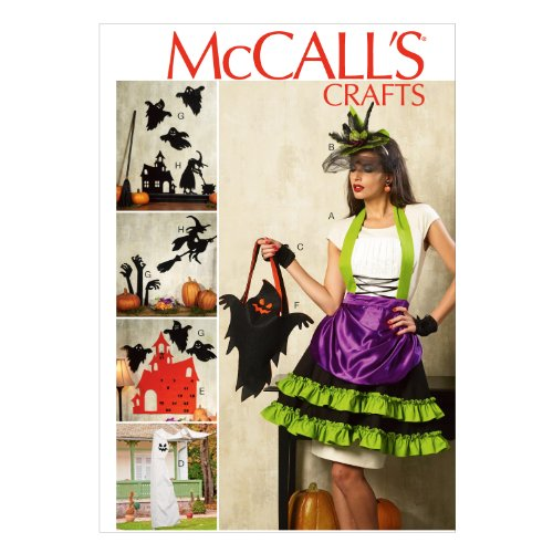 McCall Pattern Company M6811 Halloween Items Sewing Template, One Size Only