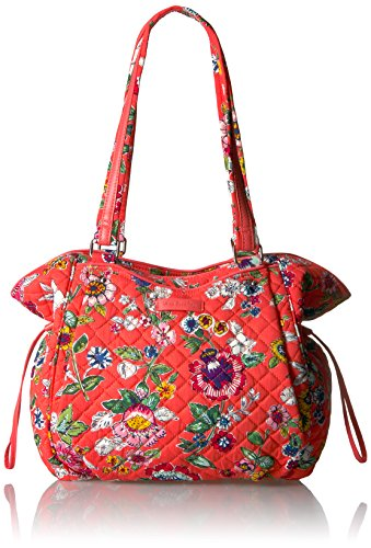 Vera Bradley Iconic Glenna Satchel-Signature, Coral Floral
