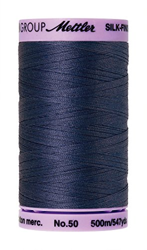 Mettler 9104.1365000000005 Silk Finish Cotton Thread 50wt 547yd-True Navy, 547 yd/500m, True